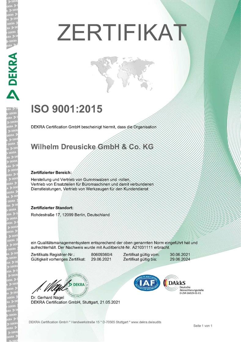 Dreusicke shop dreusicke certification iso 90012008 1betcityfo Gallery
